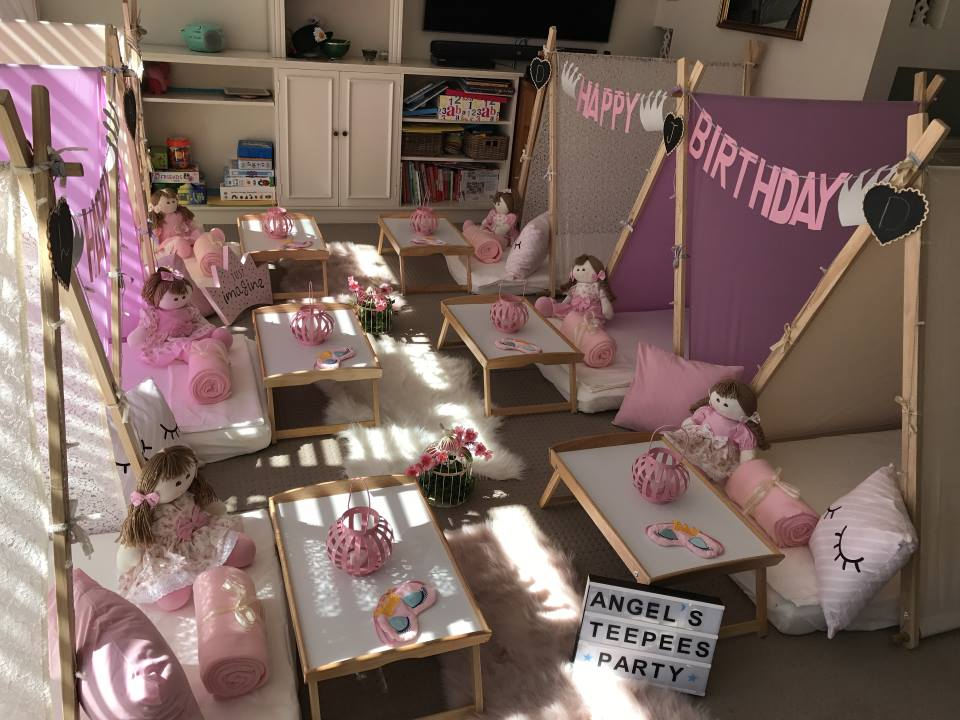 Girls Themed Slumber Parties, spa party by Angels Teepees Sydney