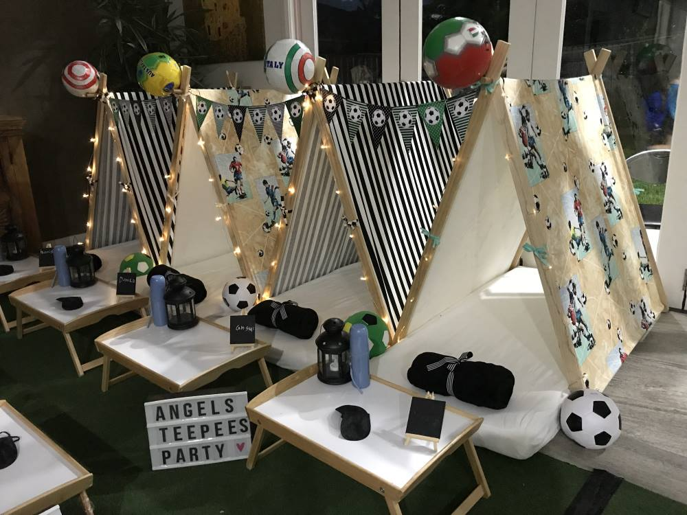 Soccer party Angels Teepees Sydney