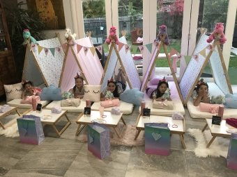 Teepee Parties, Slumber Party, Spa Party by Angels Teepees Sydney