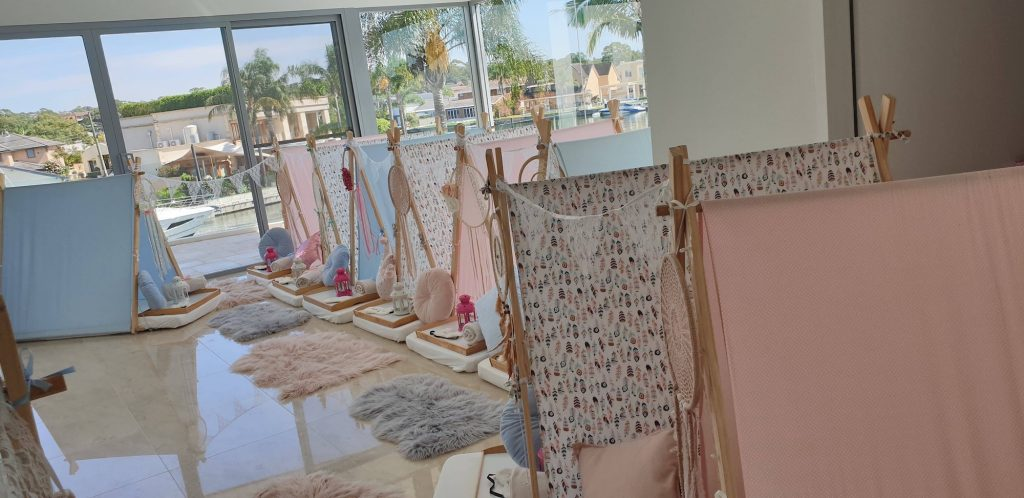 Boho Chic Theme for slumber party, spa party, teepee party, Angels Teepees Sydney