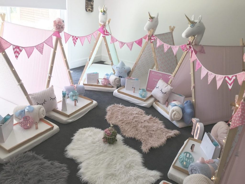 Enchanted Garden Theme for slumber party, spa party, teepee party, Angels Teepees Sydney