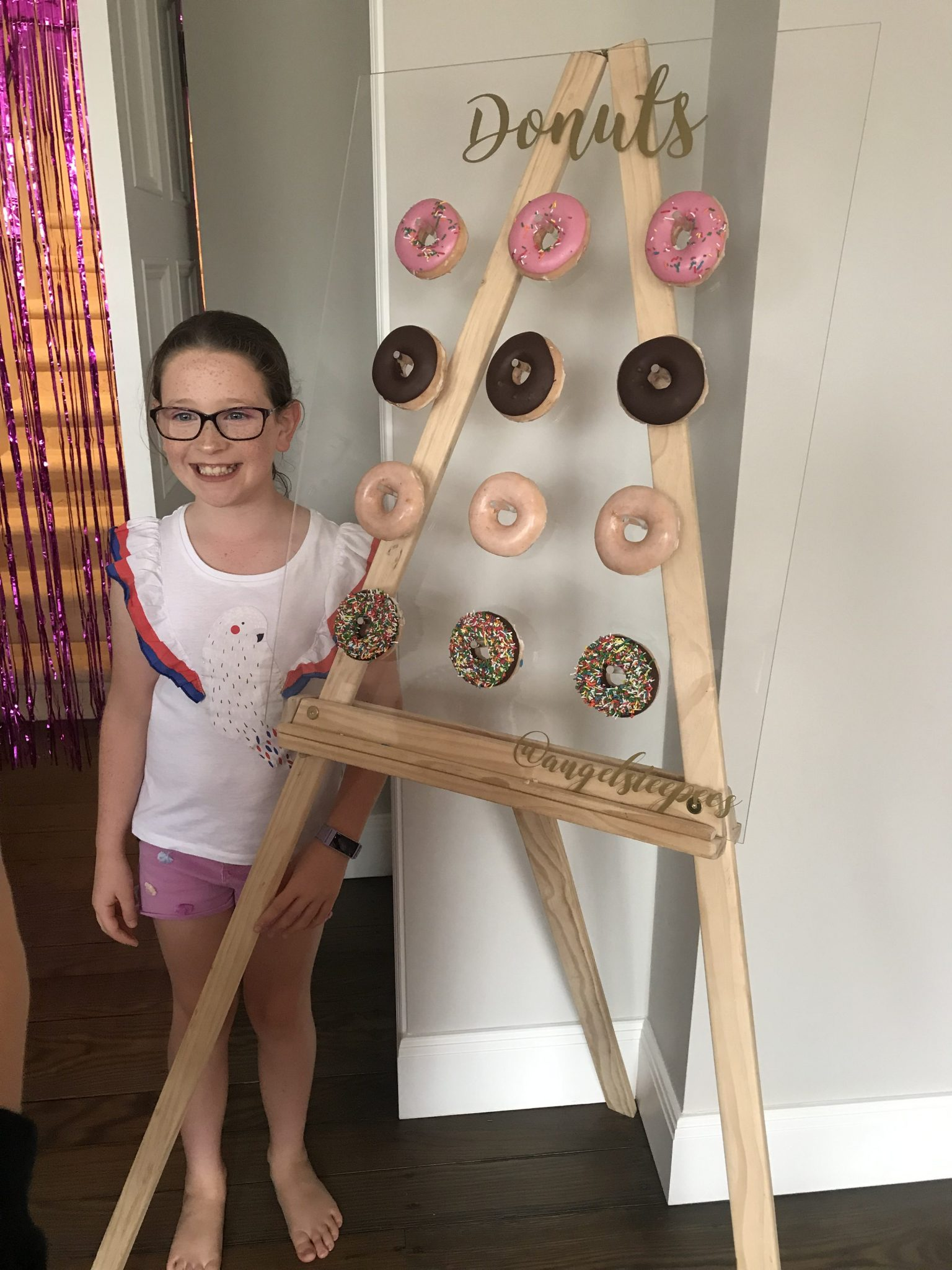 Donut Wall Add-on, Delicious Donut wall by Angels Teepees, slumber parties, spa parties Sydney