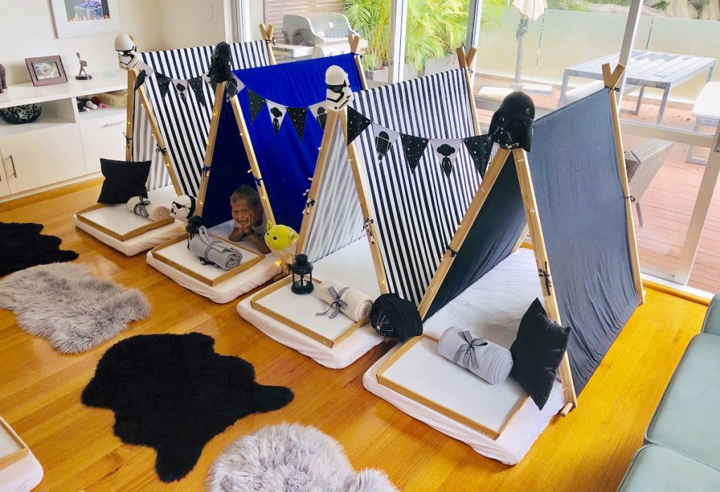 Star Wars Theme teepee party, slumber parties by Angels Teepees Sydney