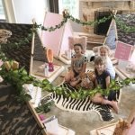 Safari teepee party by Angels Teepees Sydney