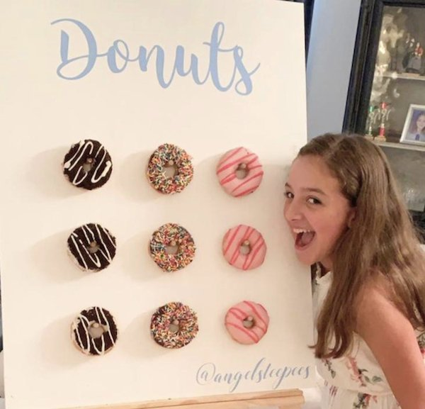 Donut wall add on for slumber party by Angels Teepees Sydney
