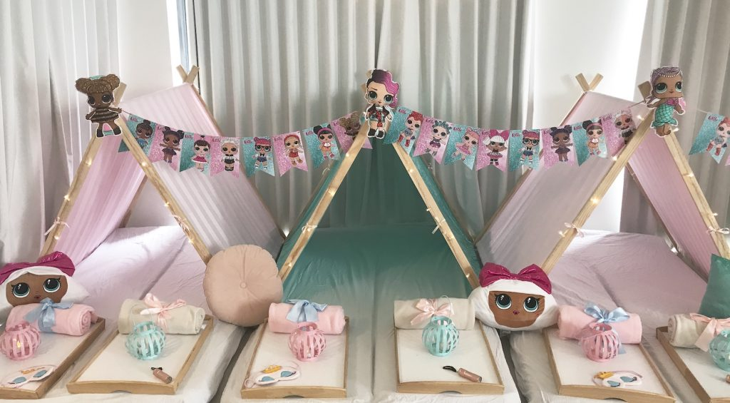 LOL Dolls Themed teepee party, slumber parties by Angels Teepees Sydney