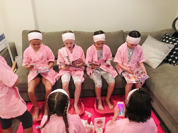 Girls spa party, slumber party fun Sydney, Angels Teepees