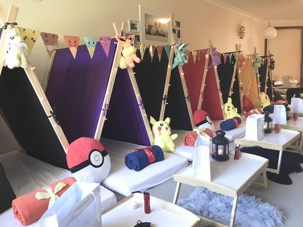 Pokemon theme teepee party by Angels Teepees Sydney